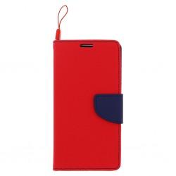 Knižkové puzdro Fancy pre Huawei Honor 7a červeno-modré.