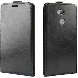 Flipové puzdro Vertical Flexi Slim pre Sony Xperia XA2 Plus čierne .