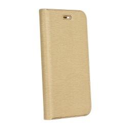 Knižkové puzdro Vennus s rámom pre Huawei P Smart zlaté.