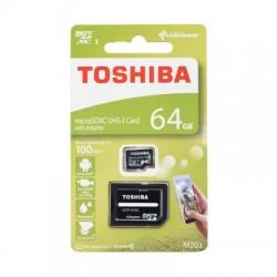 Pamäťová karta Toshiba 64GB M203 UHS-I s adaptérom.