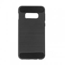 Kryt Carbon pre Samsung Galaxy S10 Lite čierny.