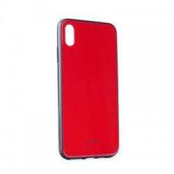 """Kryt Glass pre iPhone XS Max (6.5"""") červený."""