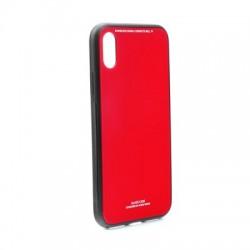 """Kryt Glass pre iPhone X/XS (5.8"""") červený."""
