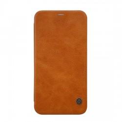 "Puzdro Nillkin Qin pre iPhone XR (6,1"") hnedé."