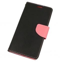 Puzdro Fancy pre pre Huawei P30 Pro čierno-ružové .