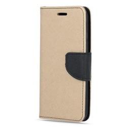 Puzdro Fancy pre Nokia 7.1 zlato-čierne.