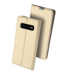 Puzdro Dux Ducis Skin pre Samsung S10 Plus Galaxy G975F zlaté.