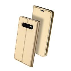 Puzdro Dux Ducis Skin pre Samsung G970F Galaxy S10e zlaté.