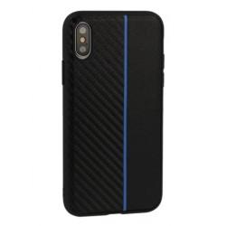 Kryt Moto Carbon pre Huawei P30 čierny.