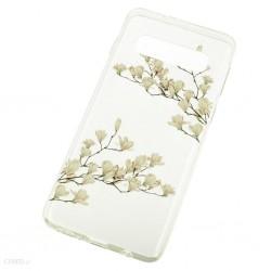 Kryt Floral pre Samsung Galaxy S10 Plus Magnolia.