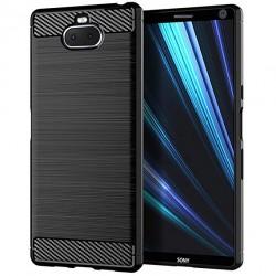 Kryt Carbon pre Sony Xperia 10 Plus čierny.