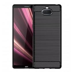 Kryt Carbon pre Sony Xperia 10 čierny.