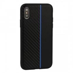 """Kryt Moto Carbon pre iPhone XS (6,5"""") čierny."""