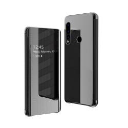 Puzdro Flip View pre Huawei P30 Lite čierne.