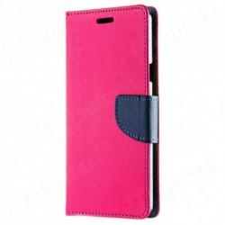 Puzdro Fancy pre Huawei P20 Lite 2019 ružovo-modré.