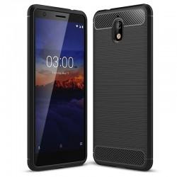 Kryt Carbon pre Nokia 3.1 čierny.