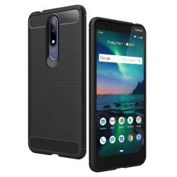 Kryt Carbon pre Nokia 3.1 Plus čierny.
