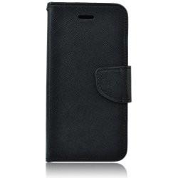 Puzdro Fancy pre Motorola Moto E6 Plus čierne.