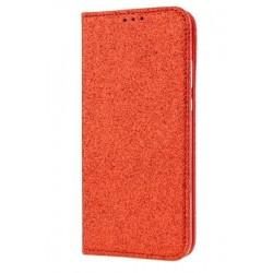 Puzdro Glitter pre LG K11/LG K10 2018 červené.