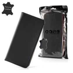 Puzdro Genuine kožené pre Samsung Galaxy A71 čierne.
