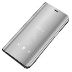 Puzdro Clear View pre Samsung Galaxy A41 strieborné.