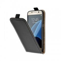 Puzdro Flip Vertical pre Huawei P40 Lite E čierne.