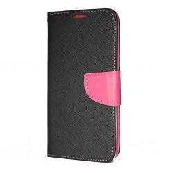 Puzdro Fancy pre Samsung A217 Galaxy A21s čierno-ružové.
