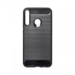 Kryt Carbon pre Huawei P40 Lite E čierny.