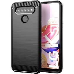 Kryt Carbon pre LG K51s čierny.