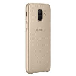 Puzdro Wallet Cover pre Samsung Galaxy A6 2018 zlaté (EF-WA600CFEGWW).