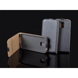 Puzdro kapsa s vertikálnym zapínaním Pocket/Flexi slim pre LG K8 (K350N) grafitové