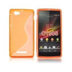 Kryt pre Sony Xperia Z1 Compact oranžový.