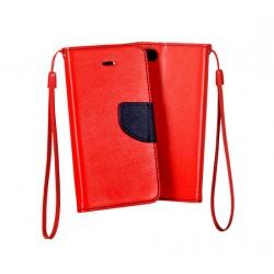 Knižkové puzdro Fancy pre lenovo Moto G5 červeno-modré.