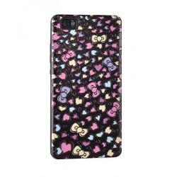 Kryt 3D Hearts Print Case pre Huawei 910 čierne