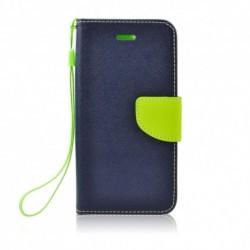 Puzdro Fancy pre Motorola Moto G5 modro-limetkové.