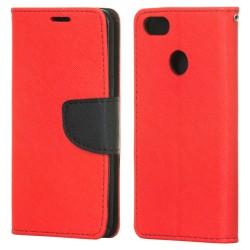 Puzdro Fancy pre Huawei P9 Lite mini červeno-modré.