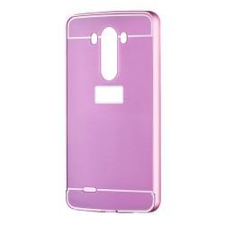 Kryt hlinikový mirror pre LG G3 ružový.