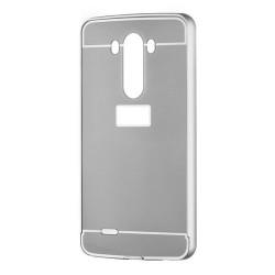 Kryt hlinikový mirror pre LG G3 strieborný.