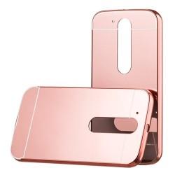 Kryt hlinikový mirror pre Lenovo Moto G4 ružovo-zlatý.