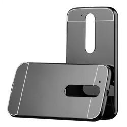 Kryt hlinikový mirror pre Lenovo Moto G4 čierny.