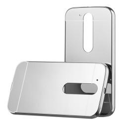 Kryt hlinikový mirror pre Lenovo Moto G4 strieborný.