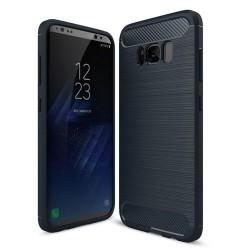 Kryt Carbon TPU na Samsung G955 Galaxy S8 Plus tmavomodrý.