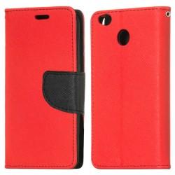 Knižkové puzdro Fancy pre Xiaomi Redmi 4x červeno-modré.