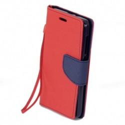 Knižkové puzdro Fancy pre Xiaomi Redmi Note 4 červeno-modré.