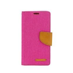 Knižkové puzdro Canvas pre Nokiu 6 (2018) ružový.