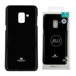 Zadný kryt Mercury Jelly pre Samsung A530 Galaxy A5 (2018)/A8 (2018) čierny.