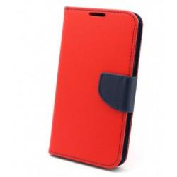 Knižkové puzdro Fancy pre Huawei Honor 7X červeno-modré.