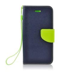 Knižkové puzdro Fancy pre Huawei Honor Note 10 modro-limetkové.