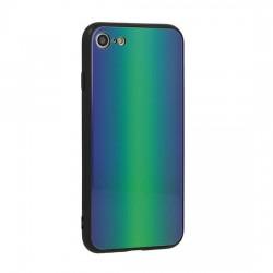 Kryt Vennus Glass Reflect pre iPhone X zeleno-modrý.