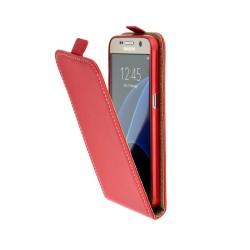 Puzdro kapsa s vertikálnym zapínaním Pocket/Flexi slim pre LG K8 (K350N) červené